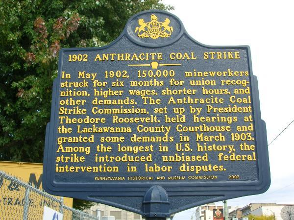 Coal strike in Scranton, PA