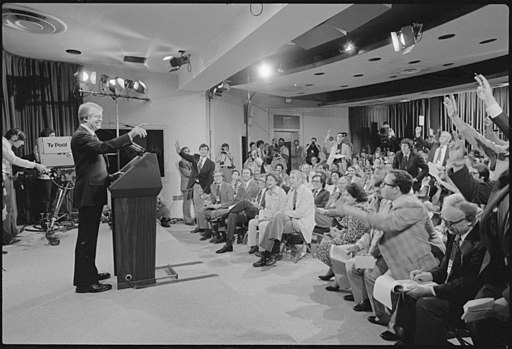 Jimmy Carter at press conference