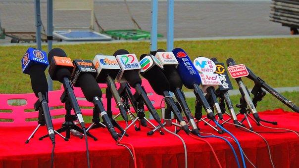 Journalists conduct job interviews
