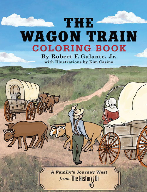 oregon trail coloring book